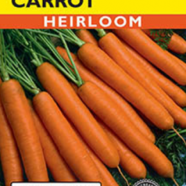 CARROT SCARLET NANTES HEIRLOOM SEEDS